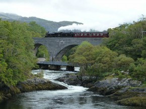 The jacobite over river Morar